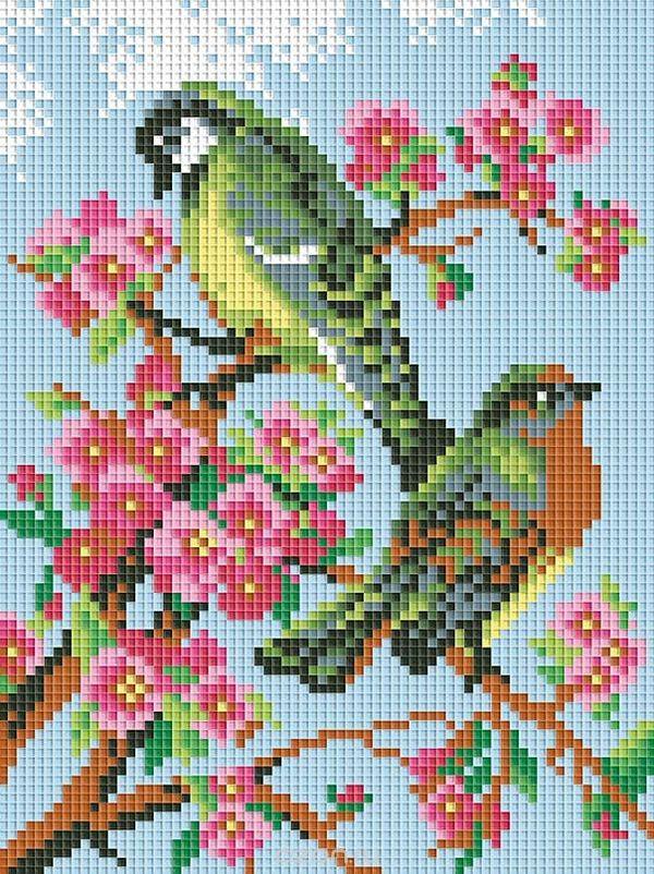 Мозаика Весенняя песня, 18х24, творчество, рукоделие